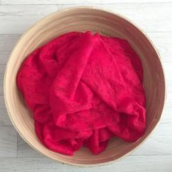 Rouge - Wrap en dentelle séance photo bébé ou maternité