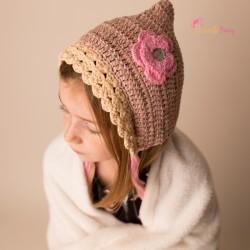 Bonnet bébé au crochet forme béguin