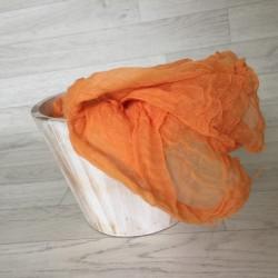 Couverture en coton tissé, modèle orange