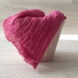 Couverture en coton tissé, modèle framboise