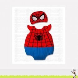 Ensemble déguisement modèle Spiderman