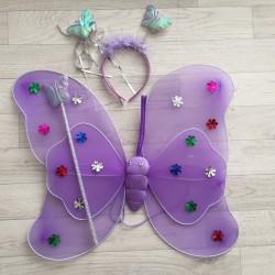 Fée Papillon Violet - Déguisement costume bébé/enfant 2 à 10 ans
