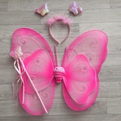Fée Papillon strass Rose - Déguisement costume bébé/enfant 2 à 10 ans