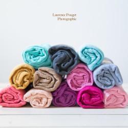 Couverture en coton tissé, modèle crème