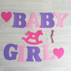 Guirlande Baby Girl tricolore