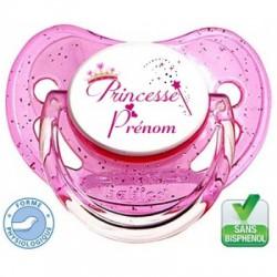 Sucette bébé Princesse baguette à personnaliser