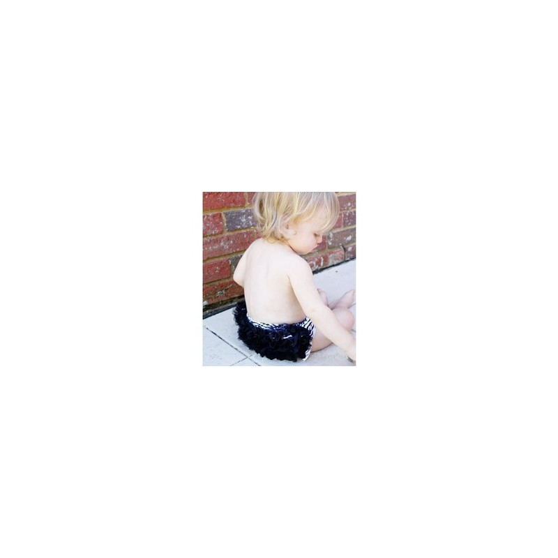 culotte b b bloomer cache couche mod le z bre noir de 0 3 ans. Black Bedroom Furniture Sets. Home Design Ideas