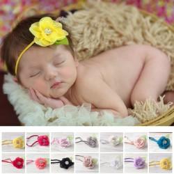 Bandeau bébé modèle Amapola Strass, couleur au choix