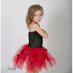 Robe tutu Coccinelle, déguisement enfants 0 à 5 ans