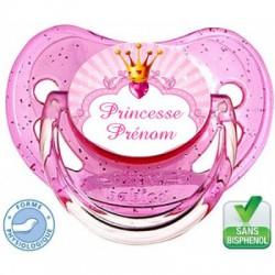 Sucette bébé naissance fille à personnaliser, Mini princesse