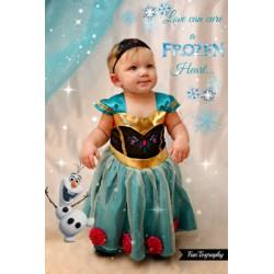 Déguisement 2 pièces Anna Reine des Neiges 18 mois à 4 ans