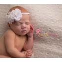 Bandeau enfant modèle double fleurs du Nil, couleur