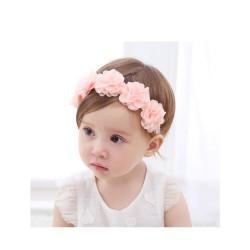 bandeaux cheveux fleurs rose