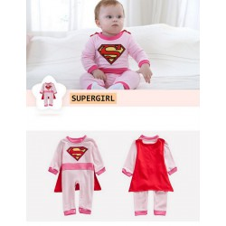 SUPERGIRL, déguisement hiver fille 0 à 2 ans