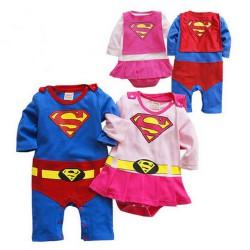 Déguisements Supergirl-man au choix 3 mois à 3 ans