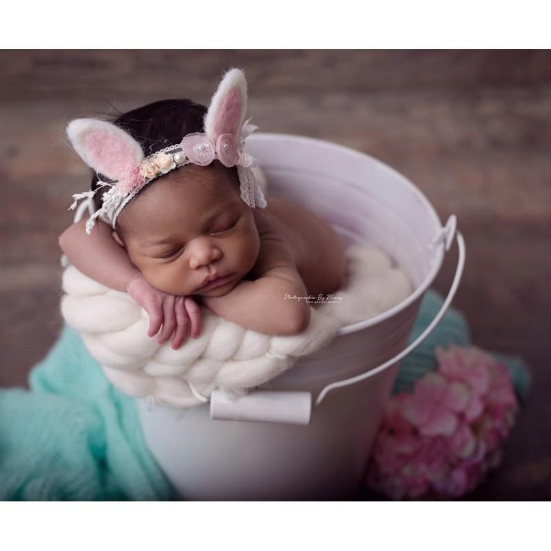 Bandeau jersey nouveau né, modèle Chic Bunny