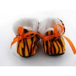 Chaussure souple zébrée, boots bébé 0/9mois