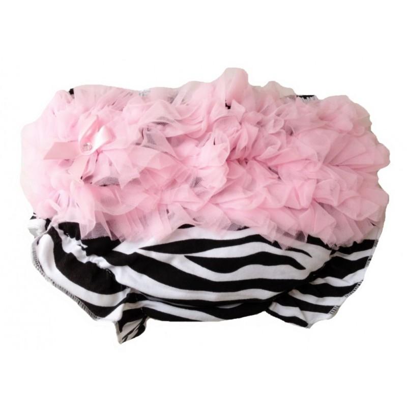 jupe culotte b b bloomer cache couche mod le z bre rose de 0 3 ans. Black Bedroom Furniture Sets. Home Design Ideas