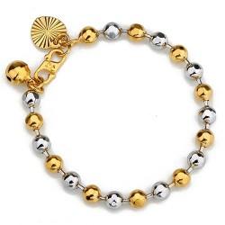 Bracelet bébé plaqué or jaune et blanc 18 carats