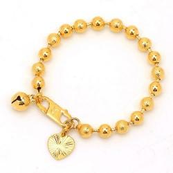 Bracelet bébé plaqué or jaune 18 carats