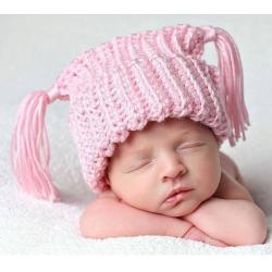 Bonnet au crochet ptite princesse naissance à 2 ans