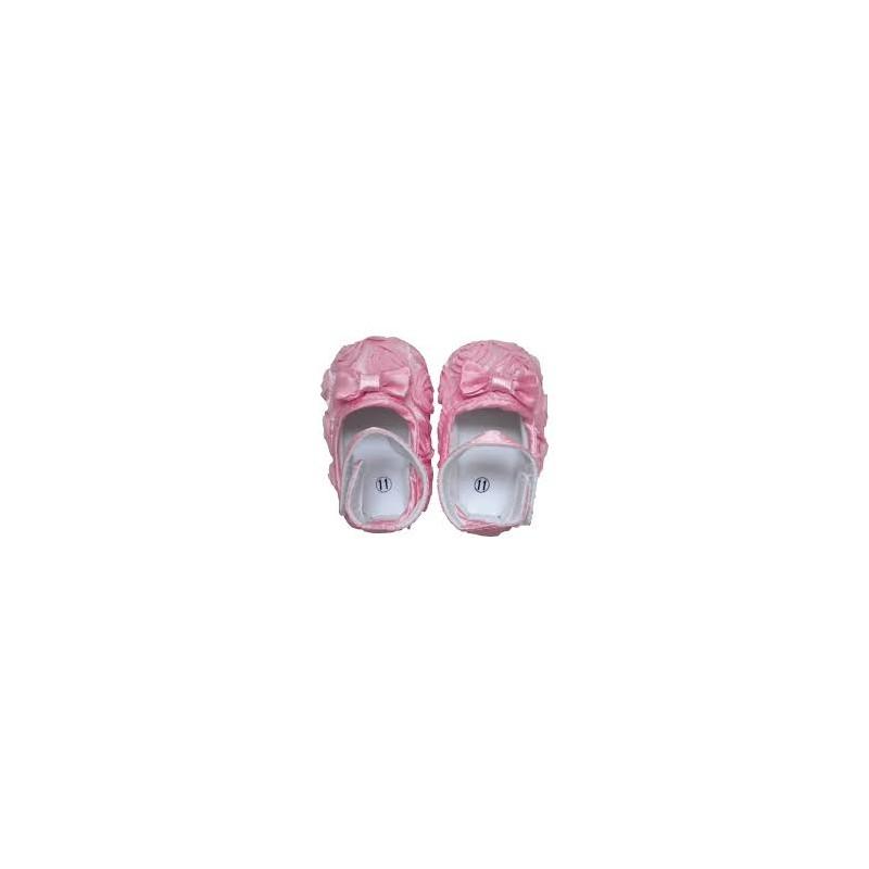chaussure souple b b 6 18 mois mod le ballerine soie rose. Black Bedroom Furniture Sets. Home Design Ideas