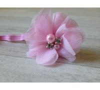 Bandeau cheveux bébé/fille, modèle rose