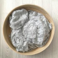 Gris clair - Wrap en dentelle séance photo bébé ou maternité