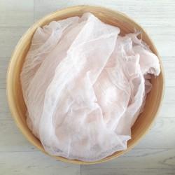Couverture grandes dimensions en coton tissé, modèle beige