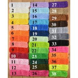 Bandeaux crochet élastique, large choix couleurs