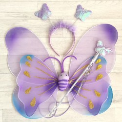 Fée Papillon violet nuancé - Déguisement costume bébé/enfant 2 à 10 ans