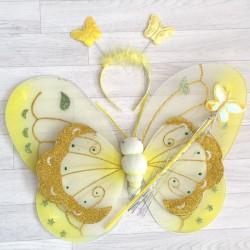 Fée Papillon tacheté, modèle jaune