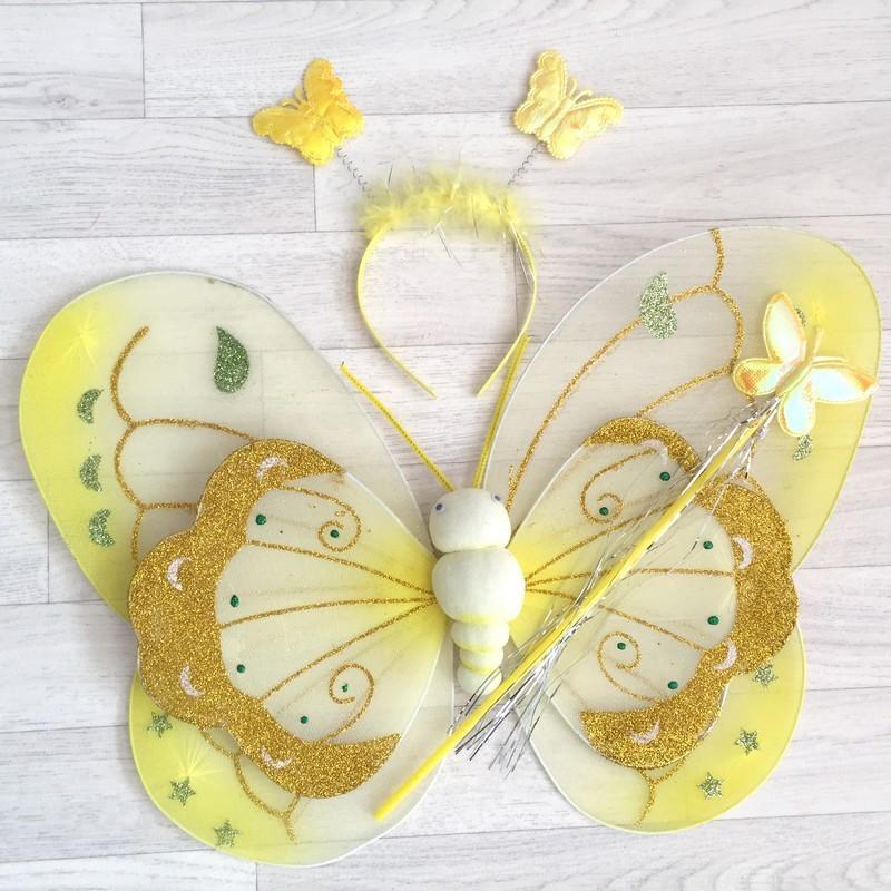 F e papillon tachet mod le jaune - Modele papillon ...