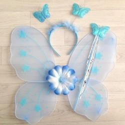 Fée Papillon bleu ciel - Déguisement costume bébé/enfant 2 à 10 ans