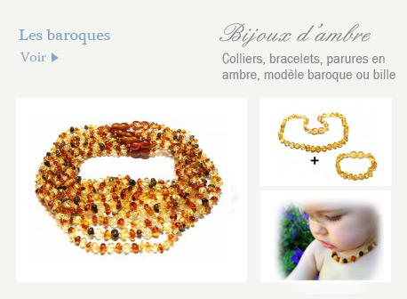 bijoux en ambre baroque