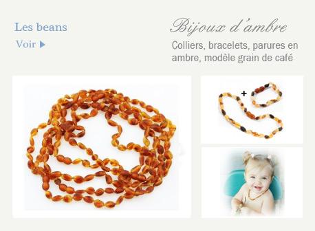 les beans, bijoux en ambre