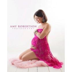 Fushia - Wrap en dentelle séance photo bébé ou maternité