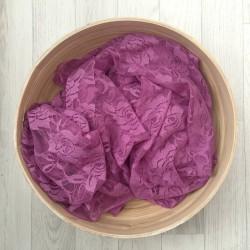 Violet clair - Wrap en dentelle séance photo bébé ou maternité