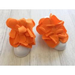 """Accéssoire, couvre pied modèle """"pétale"""" orange"""