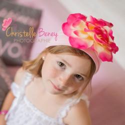 Bonnet fleur bébé/enfant en coton, 1 an à 12 ans