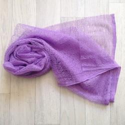 Wrap gauze tissu dentellé 160x50 cm, modèle lavande