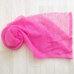 Wrap gauze tissu dentellé 160x50 cm, modèle rose foncé