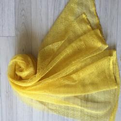 Wrap gauze tissu dentellé 160x50 cm, modèle ocre