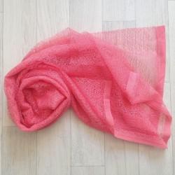 Wrap gauze tissu dentellé 160x50 cm, modèle corail