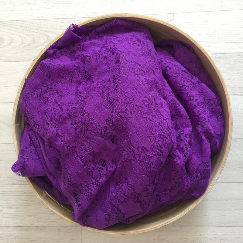 Violet - Wrap en dentelle séance photo bébé ou maternité