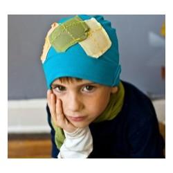 3cc5bded37e Bonnet garçon en coton fin modèle bleu clair