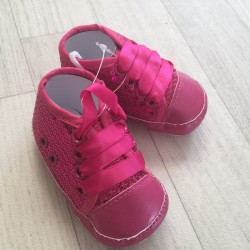2ff62ef3183db ... Chaussure souple basket montante bébé 0 à 12 mois