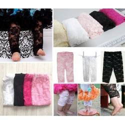 Leggings en dentelle pour bébé/fille, couleurs au choix