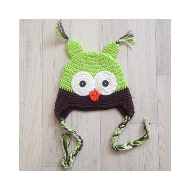 78ff31f98f6 Bonnet chouette bébé en crochet naissance à 3 ans