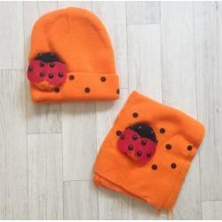 Bonnet+écharpe bébé, ensemble hiver de 0 - 5 ans